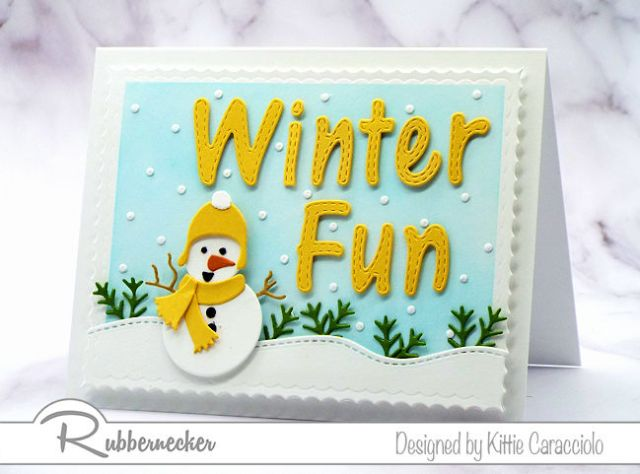 Learn how to make this cute handmade snowman card using die cuts from Rubbernecker!