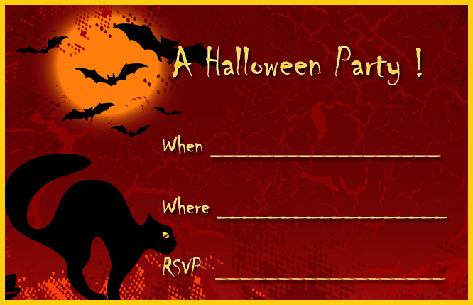 See more ideas about printable halloween party invitations, free printable halloween party invitations, halloween party invitations. 16 Awesome Printable Halloween Party Invitations Kitty Baby Love