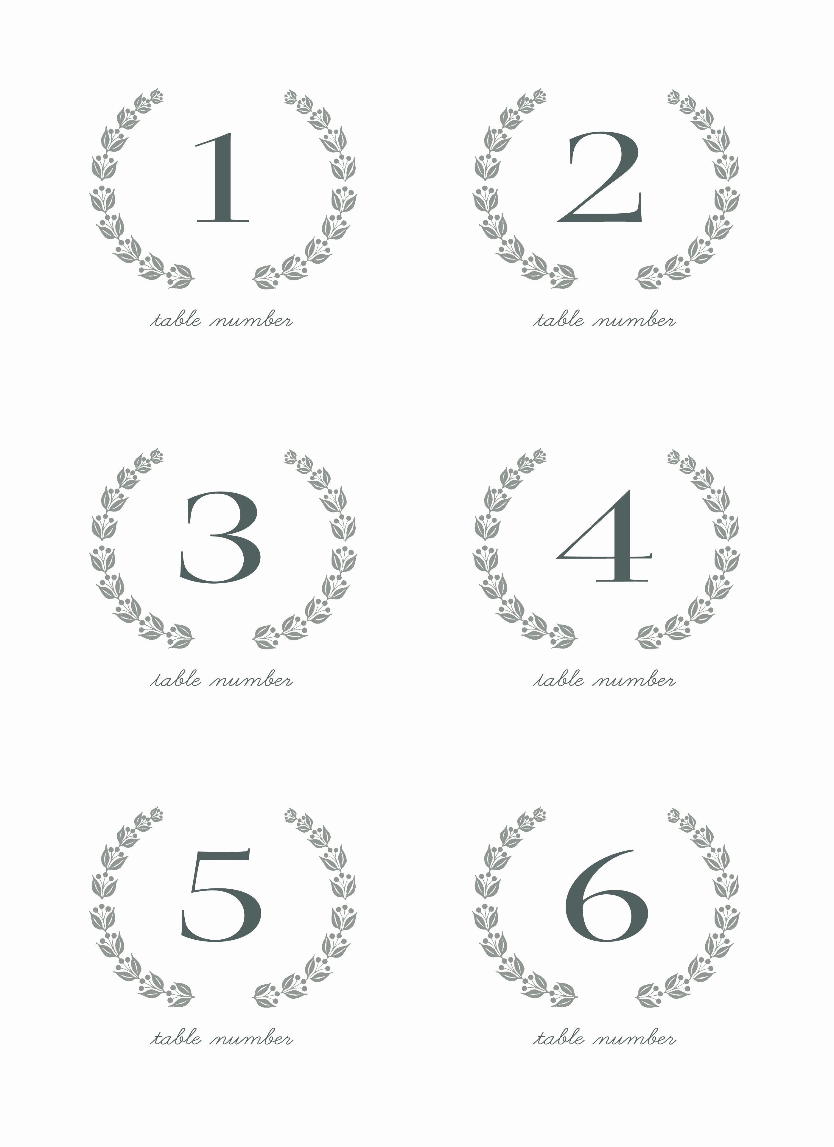 This is a graphic of Free Printable Table Numbers pertaining to grey