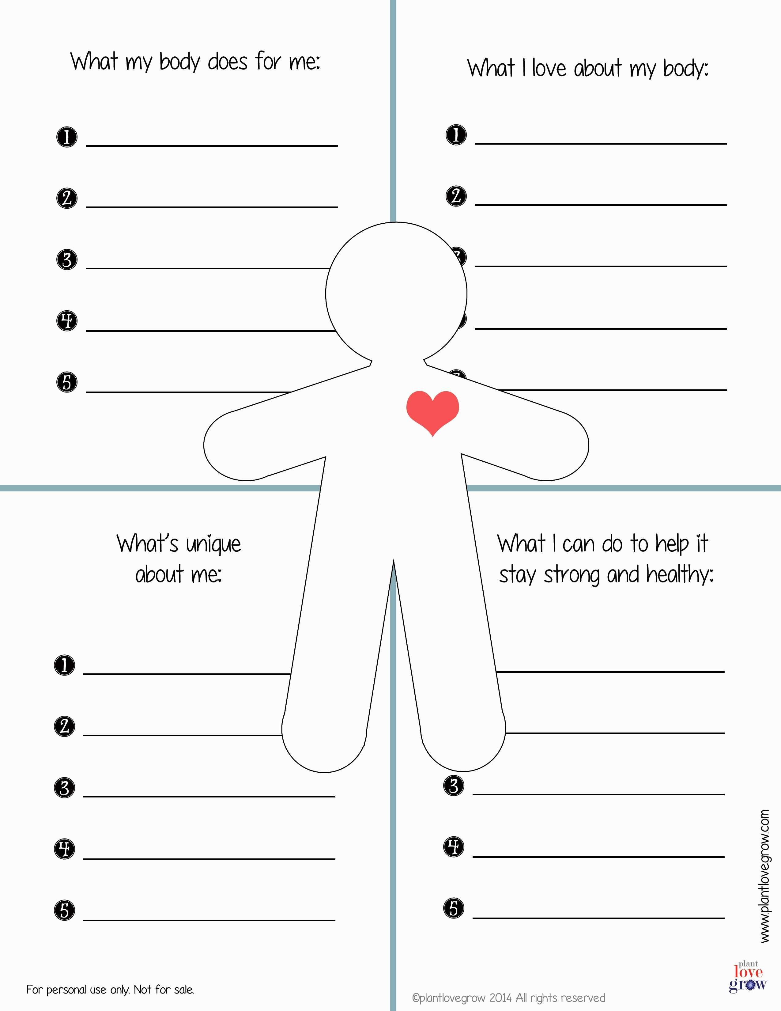 Self Esteem Worksheets For Teens : esteem, worksheets, teens, Esteem, Worksheet, Teens, Resource, Plans