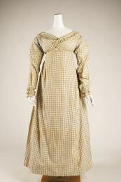 Morning dress ca. 1820. British, cotton.