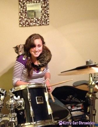 Delilah the Drumming Cat