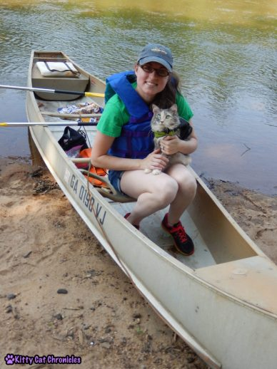 Sophie Goes Canoeing - cat canoeing / Take Your Cat on an Adventure Day