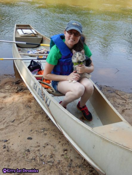 Sophie Goes Canoeing - cat canoeing