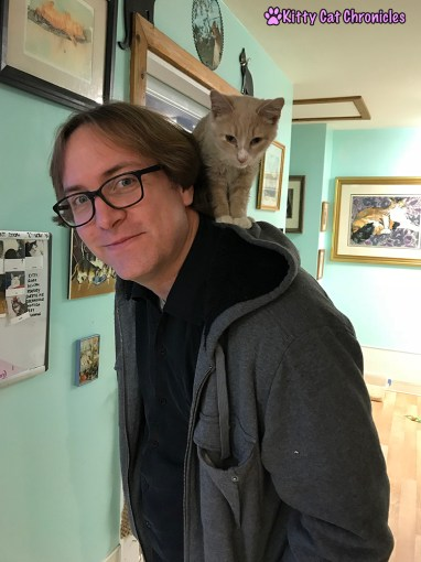 The KCC Adventure Team in Asheville: The Catman2 Shelter - Bobby and cat