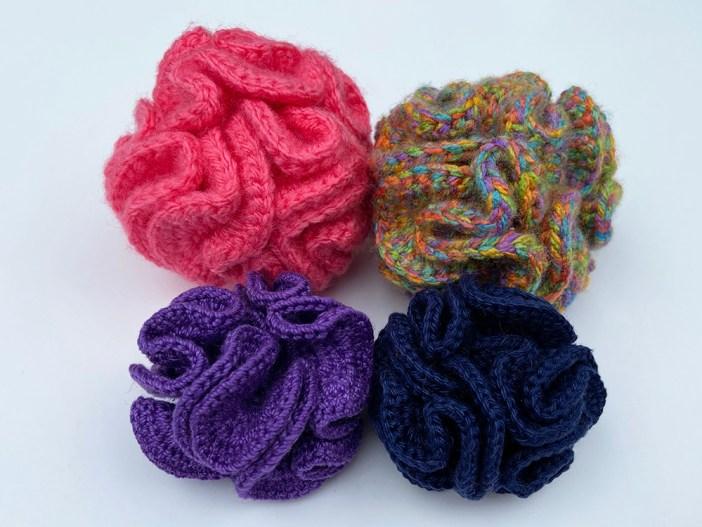 Crochet Cat Toys - scrunch balls