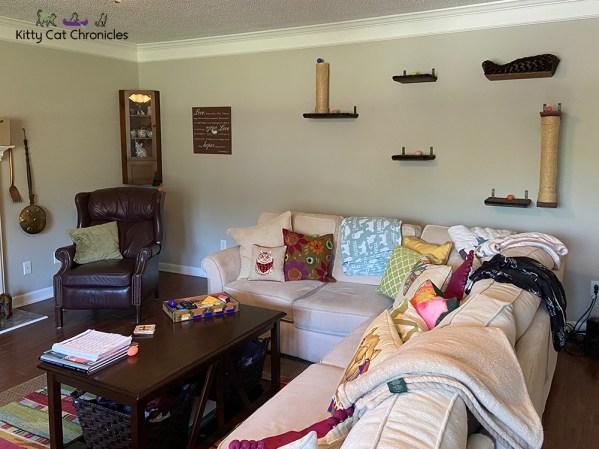KCC Easter Egg Hunt 2021 - eggs hidden in living room