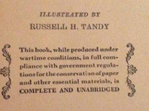 En inskription från en Kittybok som ytterligare visar hur kriget påverkade böckerna.