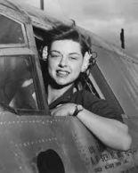 Kvinnlig pilot på 40-talet.