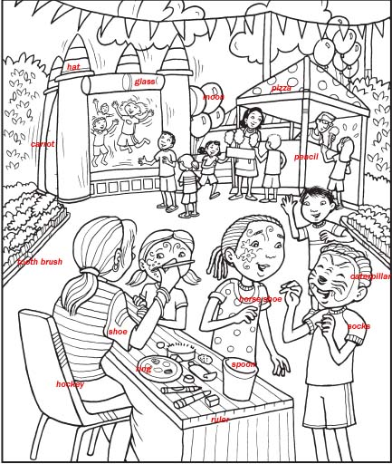Birthday Party Games : Find The Hidden Things