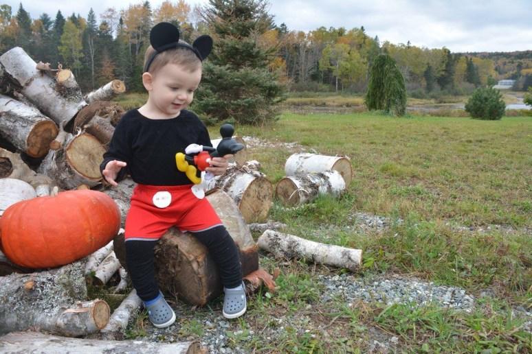 Toddler boy Micky mouse