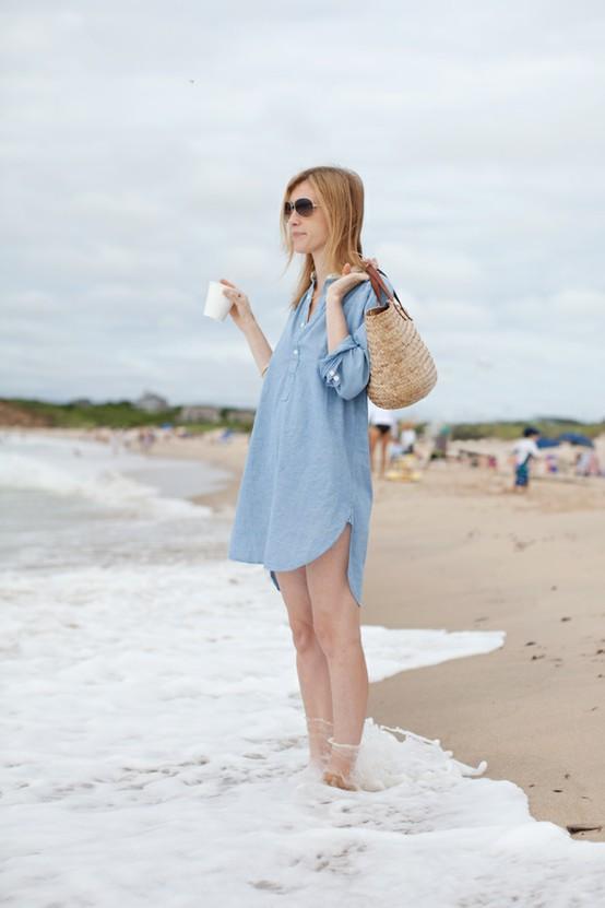Пляжный стиль одежды 2012 — Хлопковая рубашка