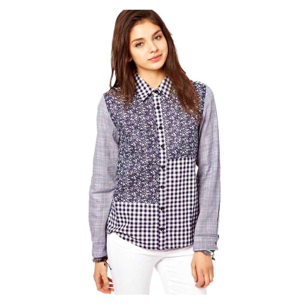 Весенняя тенденция 2013 лоскутная одежда и обувь - Рубашка из лоскутов