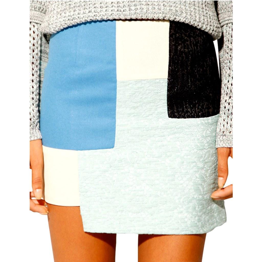 Весенняя тенденция 2013 лоскутная одежда и обувь - Юбка Pixiemarket