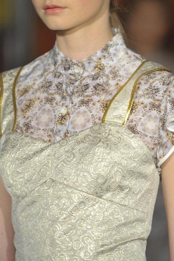 Одежда из парчи от Behnaz Sarafpour - Металлик - Тренд весны-лета 2013 года