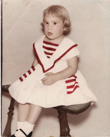 China Rose ~ in Sailor Dress and Mary Janes, age 3, circa 1962