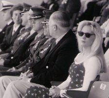 China Rose ~ VIP @ MCRD Change of Command, San Diego, CA, circa 1995