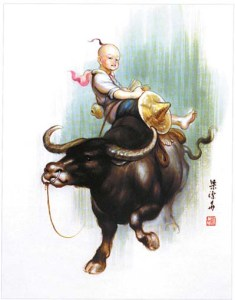 Ox Ride by Lu Xun