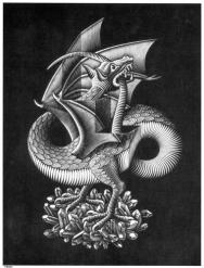 Dragon | M.C. Escher