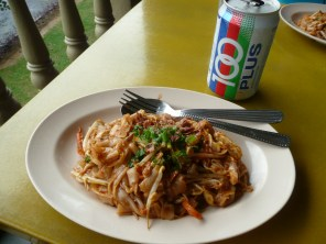Char Koay Teow with 100 Plus soda, my go-to meal - Tun Abdul Memorial, KL