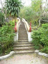 Stairs over to Buddah's footprint