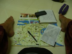 Travel planning - not all of it is glamourous