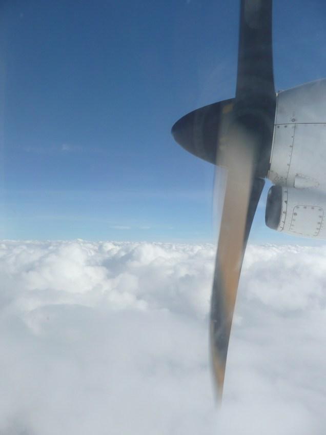 On a plane to Hanoi