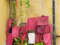 Towels hanging up to dry