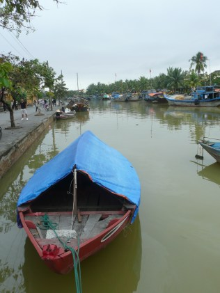 Covered boat on the river