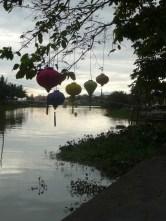 Lanterns w/ the setting sun