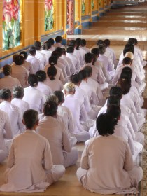 Daily ceremony and prayer within the temple
