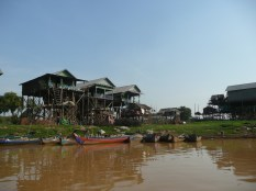 Houses on stilts for the rainy season