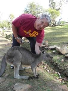 Dad w/ the kangaroo
