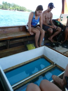 Glass bottom boat snorkelling trip