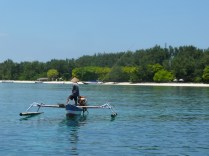 Off the shore of Gili Air