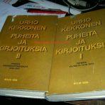 Kekkonen, Urho: Puheita ja kirjoituksia I-II