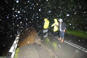 KIULU 15 January 2013.Lokasi kawasan tanah runtuh diantara Kg. Rangalau Baru dan Rangalau Lama di Jalan Kiulu - Tamparuli. laluan ini ditutup kepada semua jenis kenderaan.