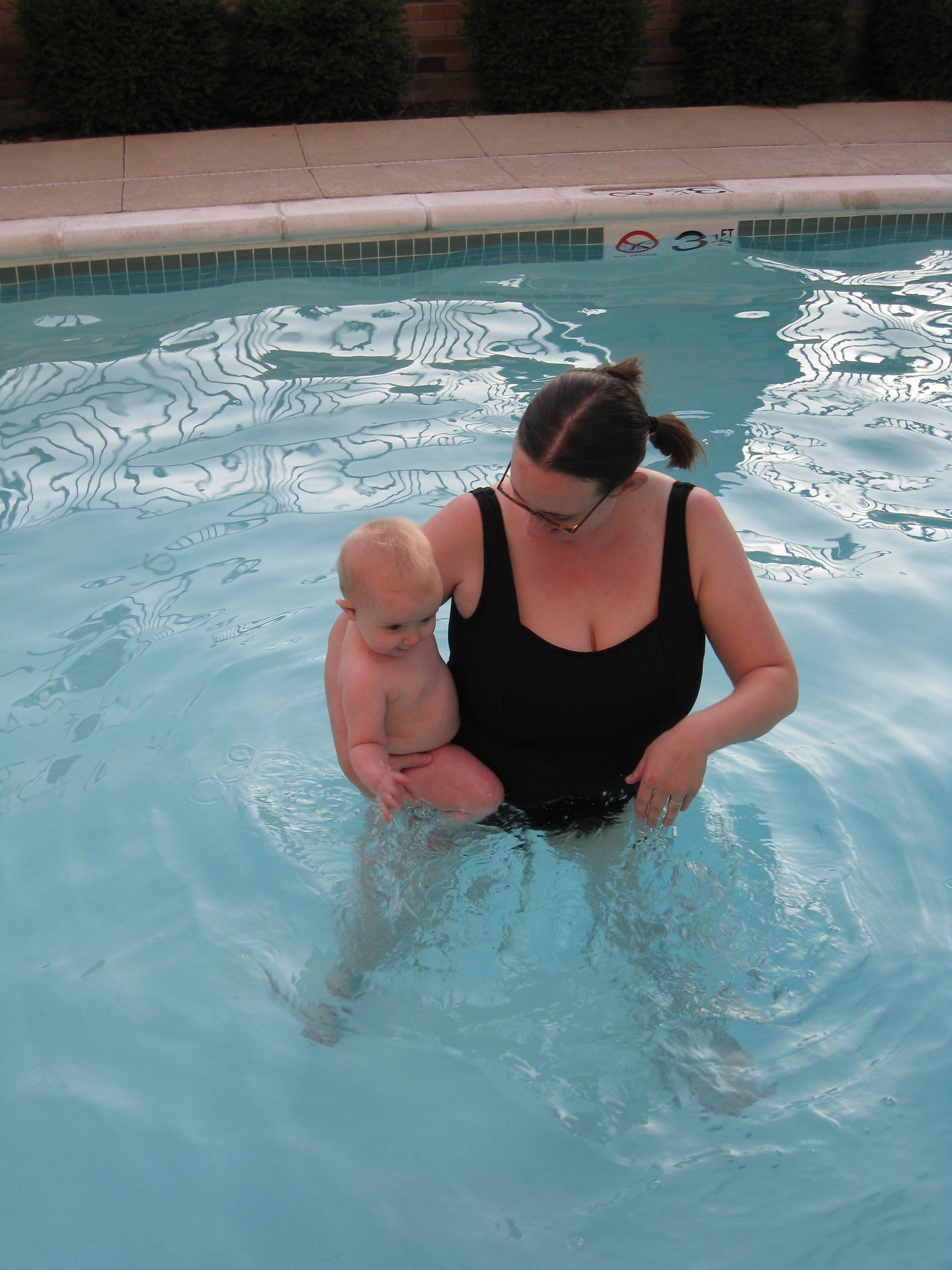 kivrin and mom swimming