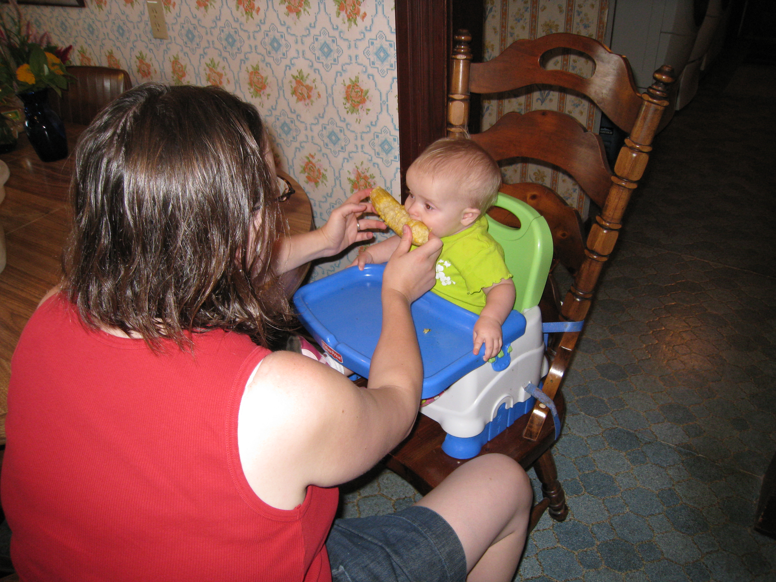 kivrin eating the corn