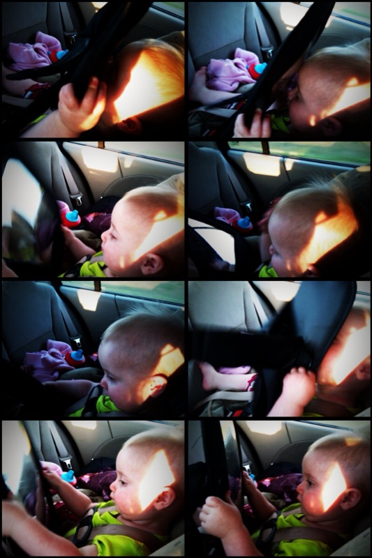 kivrin kissing the baby in the mirror in the car