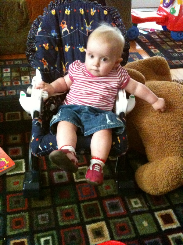 kivrin lounging in the swing chair