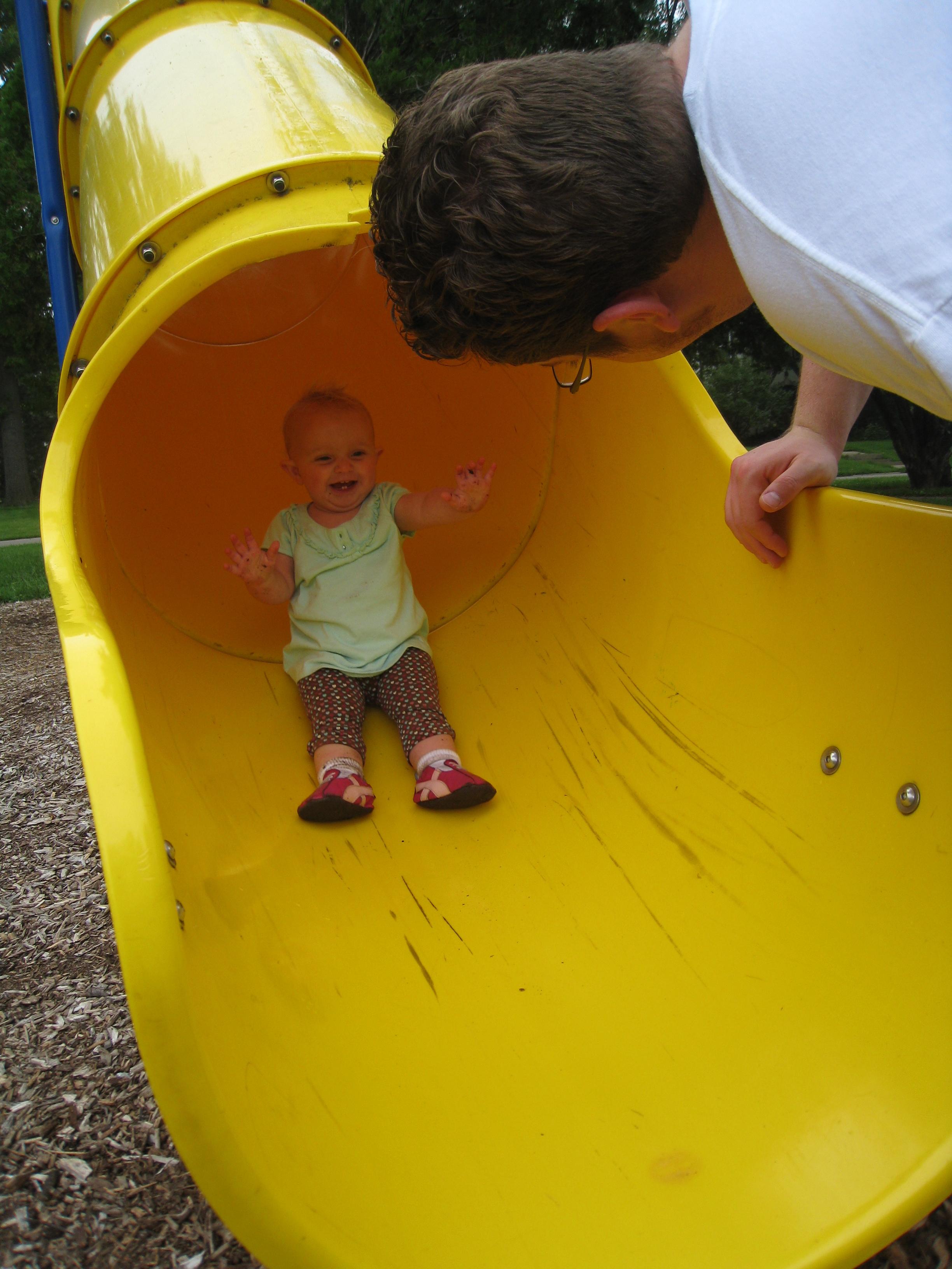 kivrin happy on the slide