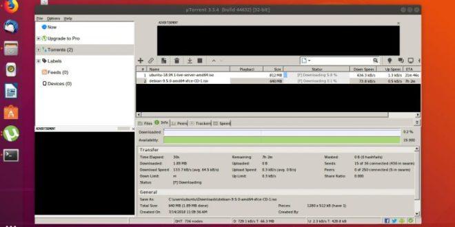 Comment Installer uTorrent sous Ubuntu 18.04 et Ubuntu 19.04