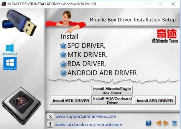 Télécharger tous les pilotes Miracle Box 2021 pour Windows 32 et 64 Bits (2021)