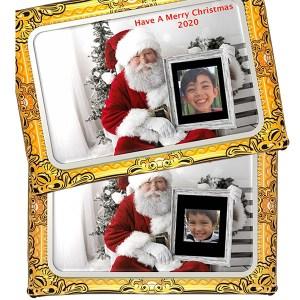 Photo on Santa's lap