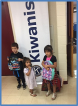 Kiwanis donates backpacks to kindergartens.