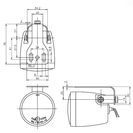 motorcycle light NS-16 fog Halogen bulb H3 12V 55W
