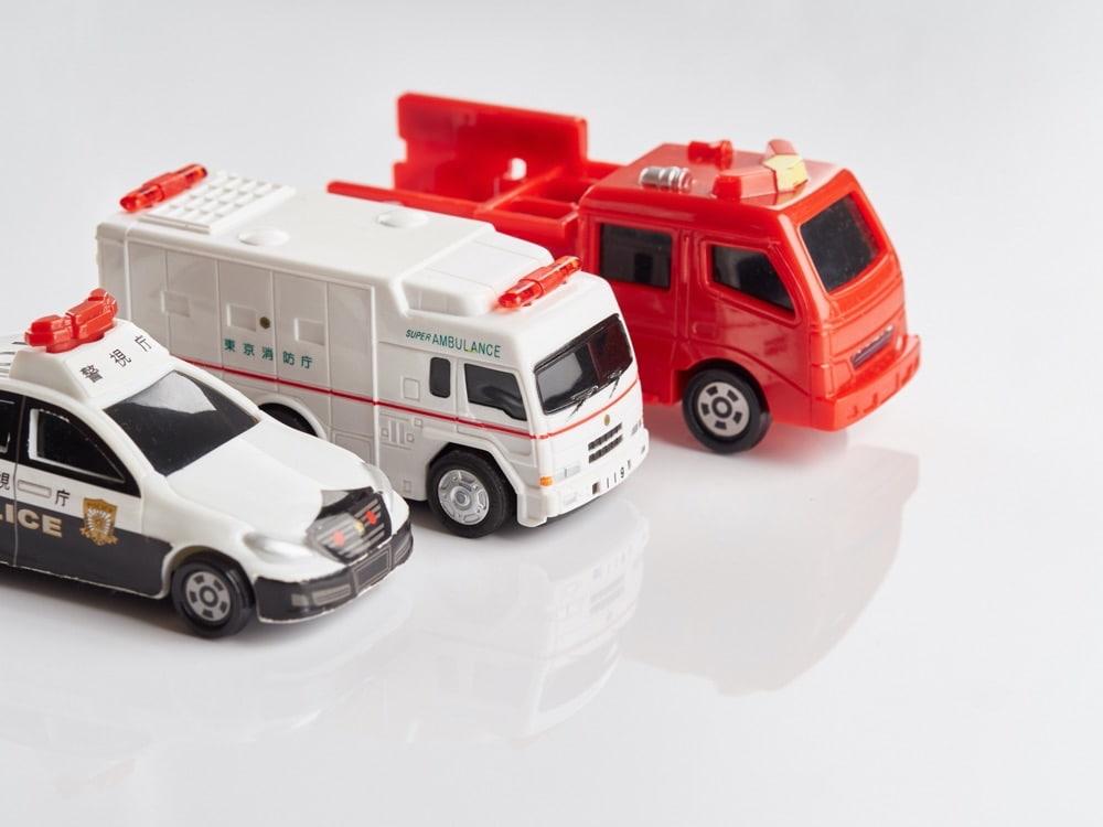 パトカー、救急車、消防車は英語で何て言う?