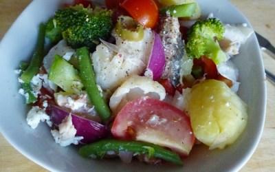 Salade aux deux poissons