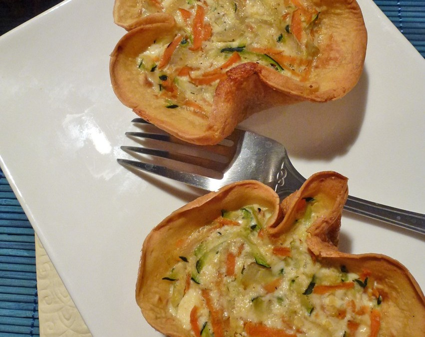 Crêpe en tulipe pour petit flan de légumes ( sans gluten)